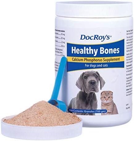 Revival Animal Health Doc Roy s Healthy Bones- Calcium Phosphorus Supplement- for Dogs Cats- 700 gm Granules