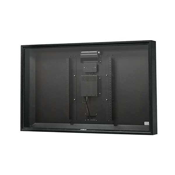 """Apollo Outdoor TV Enclosure for 46-50"""" LED/LCD Televisions with Weatherproof Adjustable Height Ceiling Mount in Black 2"""