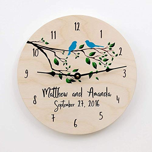 (Wedding gift, gift for couples, anniversary gift, wedding clock, anniversary clock, personalized clock, custom clock,)