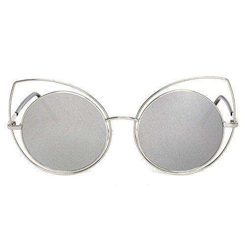marco grande gafas sol E redondo de tiro de Caja gafas de sol señora hombres de de estrellas de Aoligei gato vidrios personalidad orejas calle 5w0Pgq