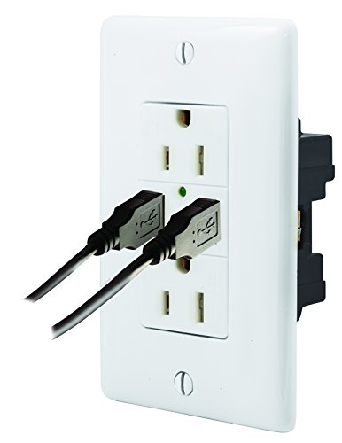 Hubbell Wiring Systems USB15X2W USB Receptacle - Electrical Boxes ...