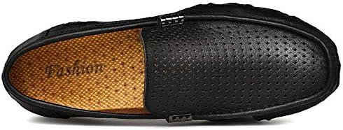 男性のためのボートシューズスリップオン中空合成皮革レジャーソフト通気性ドライビングローファー 快適な男性のために設計