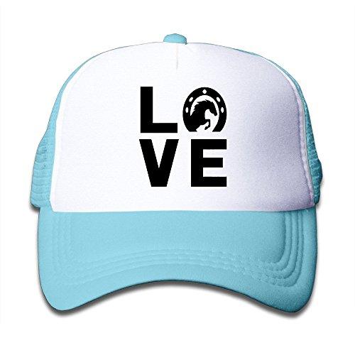 Rosa Sports Style Strap tiene Kid Love for with Gorra hat Bag béisbol Trucker Malla Adjustable 's Outdoor de Snapback Horses WZHIf18