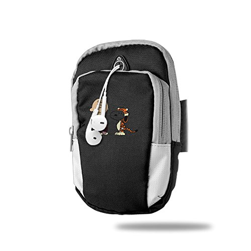 Thug Girl Costume (CGHFW Calvin And Hobbes With Snoopy (2) Outdoor Sports Multifunctional Pockets Arm Bag Arm Punch Case Holder For Running Trekking Hiking Cycling Mounting Strolling Armband)
