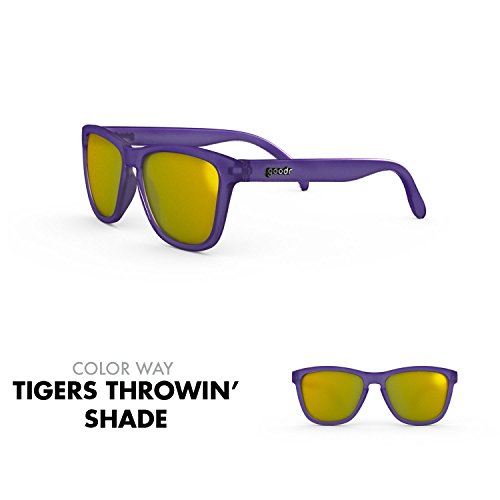 goodr RUNNING SUNGLASSES - No Slip, No Bounce, UV Polarized (Tigers Throwin' Shade, - Running For Shades
