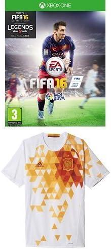FIFA 16 - Standard Edition + 2ª Equipación Federación Española de Fútbol Euro 2016 - Camiseta oficial adidas, talla L Authentic: Amazon.es: Videojuegos