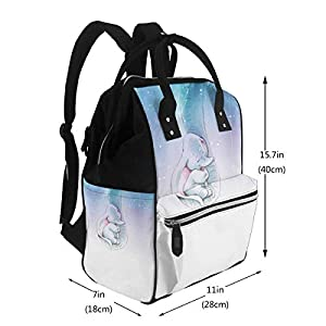 NHJYU Diaper Bag Backpack – Dumbo Happy Multifunction Waterproof Travel Backpack Maternity Baby Nappy Changing Bags