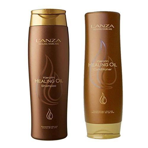 Lanza Keratin Healing Oil Shampoo 10.1 & Conditioner 8.5 oz