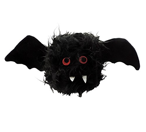 Novelty Red Eyed Bat Furry Monster Winged Animal Hat -