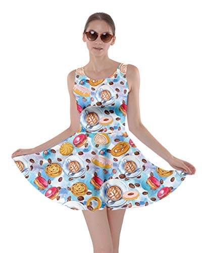 Icecream Afternoon Lollipop Womens XS Cookies Coffee Food Tea Set Macaroon Skater Dessert Candy 5XL CowCow Dress EOXgdwqg