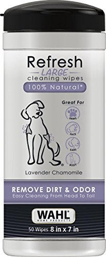 Wahl Home Pet Refresh Cleaning Wipes Lavendar Chamomile #820018