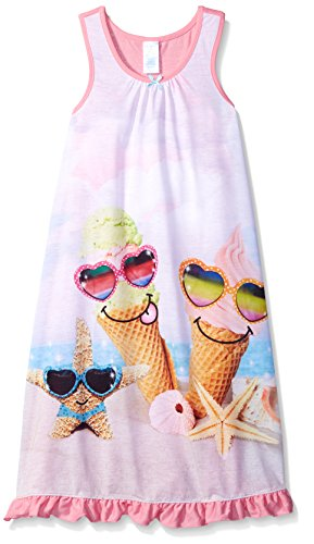 The Children's Place Little Girls Icecream Beach Nightgown, Pink Icing, Small/5-6