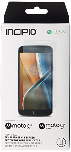 Incipio PLEX Shield Tempered Glass Screen Protector with Applicator for Moto G4/G4 Plus