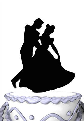 Dancing Silhouette - Meijiafei Wedding Cake Topper - Groom Hold Bride Dancing Silhouette Cake Topper