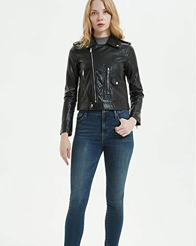 PU pour moto Suncaya de style femmes cuir courte Veste punk de en FYRqSw