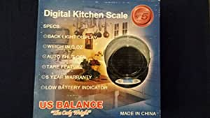 11 Lb x 0.1 oz Digital Kitchen Bowl Scale 5000 x 1.0 gram