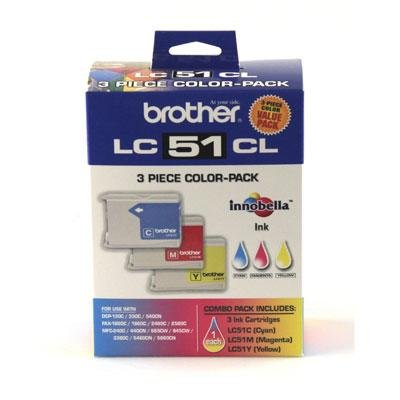 Brother International Color Ink Cartridge 3 Pack by Brother