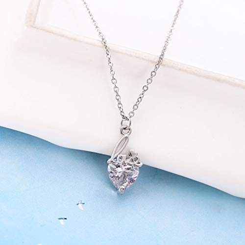 exquisite necklace pendant women girls korean transparent heart diamond stainless steel clavicle Choker chain wholesale micro pave
