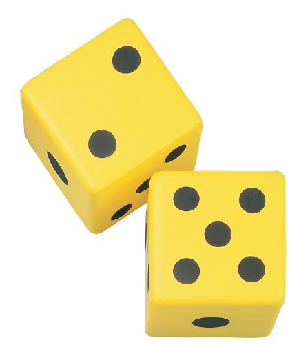 Champion Sports 6 Inch Coated Foam Dice - Foam Playing Dice