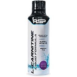 RSP Liquid L-Carnitine 3000 - Weight Loss & Fat Burner Supplement for Men & Women, Stimulant Free Metabolism Enhancement, Max Strength Liquid L-Carnitine for Rapid Absorption Berry, 16 oz.