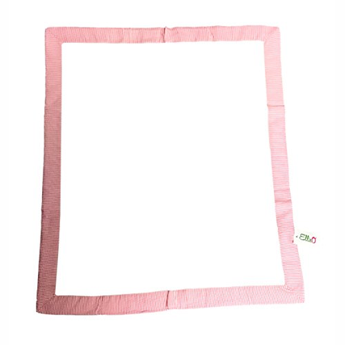 (Seersucker Trim 100% Cotton Knit Baby Blanket Can Be Personalized (Pink))