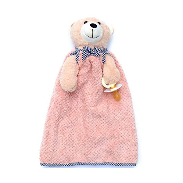 Stuffed Animal Baby Snuggler with Pacifier Holder and Removable Blanket (Pink)