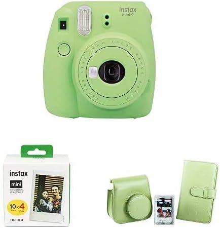 Fujifilm Instax Mini 9 - Cámara instantanea, Verde Lime + Pack de ...