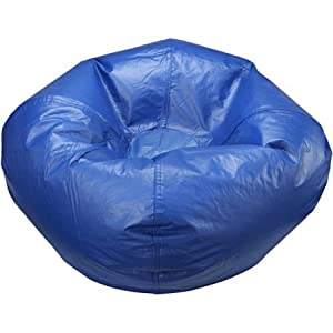 X Rocker 96700 Standard Black Bean Bag Chair (Stadium Blue)