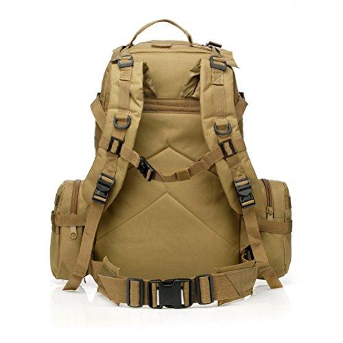 Yisidoo US Assault Pack Militaer Armee Wanderrucksaecke Rucksack Bergsteigen Taschen Fahrradtaschen Sporttaschen