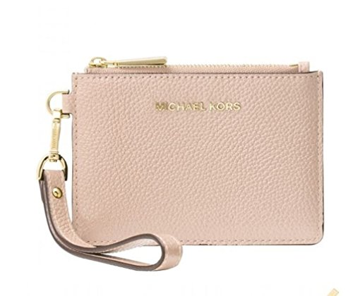 4be184e5add274 MICHAEL Michael Kors Mercer Leather Coin Purse (Soft Pink) by MICHAEL  Michael Kors (