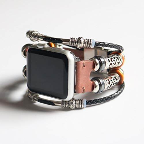 Price comparison product image Lovewe Apple Watch Series 1 / 2 / 3 Watchband, Replacement Leather Wristband Band, Strap Bracelet For Apple Watch Series 1 / 2 / 3(38mm) (Rose Gold)