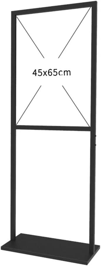 Double-Sided Poster Display Stand for 18 x 25 Inches Graphics Floor-Standing Sign Holder Advertising//Information Display Support Slide-in Design