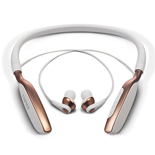 Edifier W360BT Neckband Wireless Bluetooth Headphones Earphones with Playback and Volume Controls – White