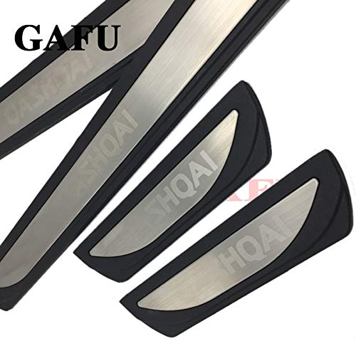 Car Styling Door Sill For Qashqai J11 2017 2018 Scuff Plate Protector Stainless Steel Door Sills Protector Sticker