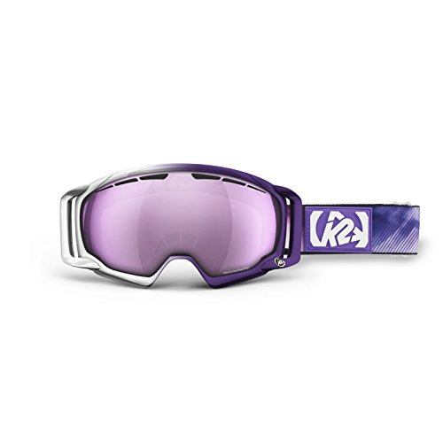 K2 Captura Pro Ski Goggles, One Size, Signature 1/Pink/Silver Tripic Mirror (Goggles Signature Snow)