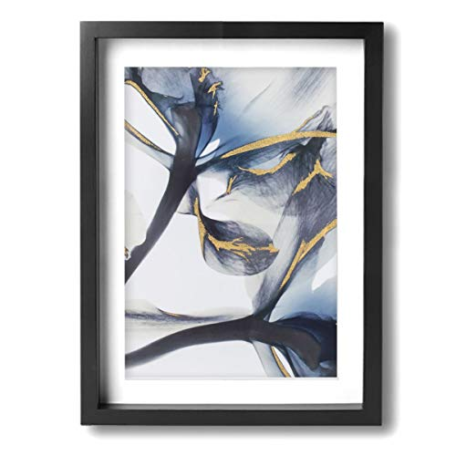 JTny-Art Iris X-Ray Flower High Gloss Modern Giclee Prints Artwork Pictures Photo Paintings Print On Canvas Wall Art For Home Walls Decor Stretched And Framed Ready To Hang 12Ã-16inch