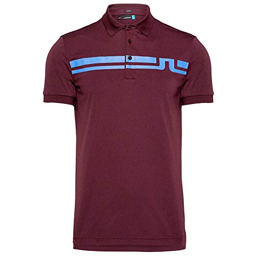 J.Lindeberg Eddy TX Jersey Golf Polo Dark Mahogany, used for sale  Delivered anywhere in USA