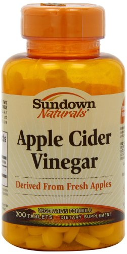 Sundown Naturals Apple Cider Vinegar, 200 Tablets (Pack of 4)