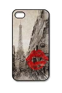 Customizablestyle Vintage Romantic Paris Eiffel Tower iPhone4/4S Case Hard Shell(pc Material)