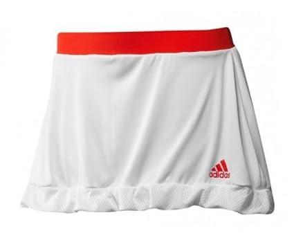 adidas - Falda de pádel para mujer, tamaño XS, color blanco/core energy