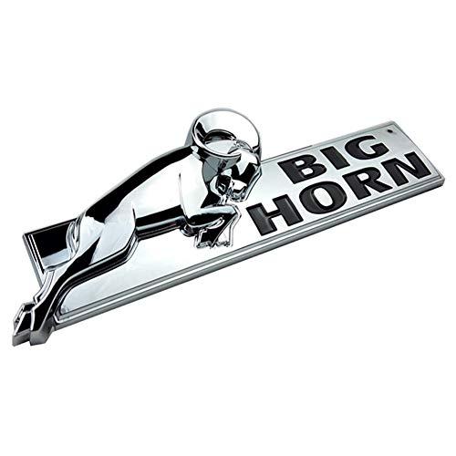 Yuauto BIGHORN Emblem, 3D Badge Nameplate Fender Replacement Sticker for Dodge RAM 1500 RAM 2500 3500