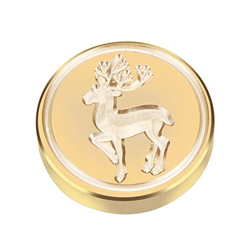 Ocamo DIY Christmas Wax Seal Stamp Head Sealing Wax Vintage Letter Envelope Classic Invitation Brass Stamp Deer #56]()