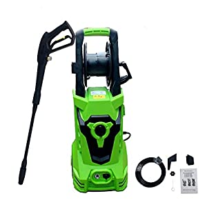 ECUTEE Electric Pressure Washer,High Power Washer- 2100 PSI/1.72 GPM All-in-One Nozzle with Hose Reel Removable Wheels…