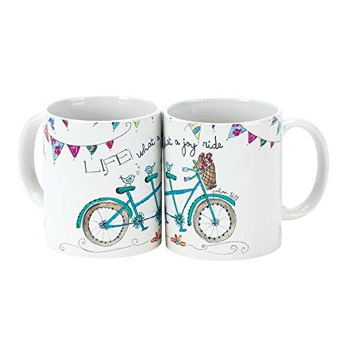 - Life What a Joy Ride Bicycle Psalm 16:11 White 11 Oz. Ceramic Coffee Cup Mug