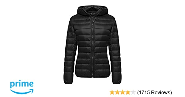 Amazon.com  Wantdo Women s Hooded Packable Ultra Light Weight Short Down  Jacket  Clothing 805eae767