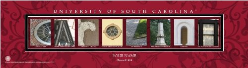 (Campus Letter Art South Carolina University Personalized and Framed)