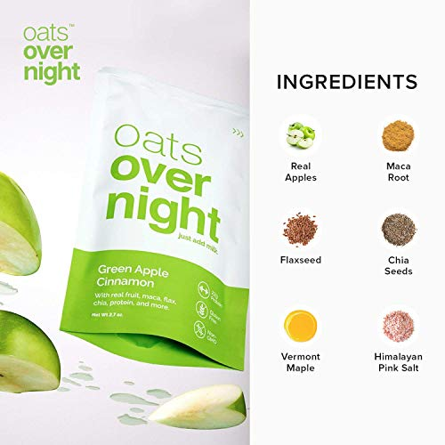Oats Overnight - Variety Pack (16 Pack) High Protein, Low Sugar Breakfast Shake - Gluten Free, High Fiber, Non GMO Oatmeal (2.7oz per pack)