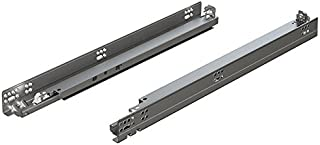 "product image for Blum 563H5330Bx10 Tandem Plus Blumotion 21"" Drawer Runner Pair for Face Frame, Silver, Nickel Finish (Pack of 10)"