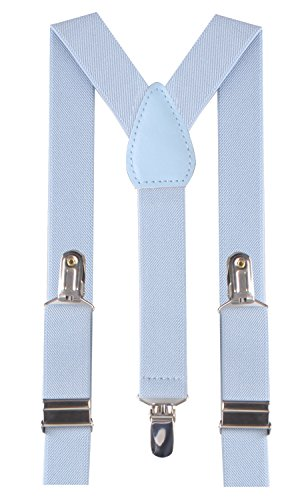 thick light blue suspenders - 5