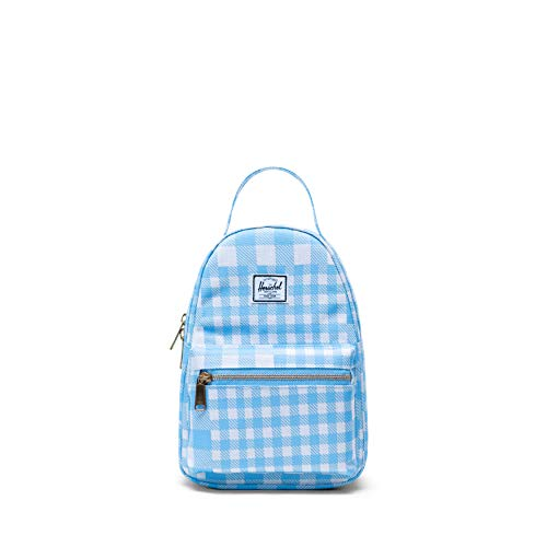 Herschel Nova Mini Backpack, Gingham Alaskan Blue, One Size